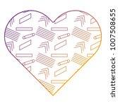 label shape heart different... | Shutterstock .eps vector #1007508655
