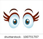 Surprised Cartoon Girl Eye