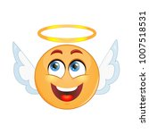 angel emoticon on a white...   Shutterstock .eps vector #1007518531