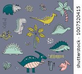 cartoon pattern with dinosaurs. ... | Shutterstock .eps vector #1007520415