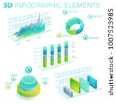 3d infographic elements | Shutterstock .eps vector #1007523985