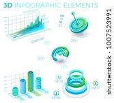3d infographic elements | Shutterstock .eps vector #1007523991