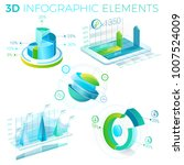3d infographic elements | Shutterstock .eps vector #1007524009