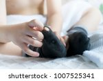 children hands playing with his ... | Shutterstock . vector #1007525341