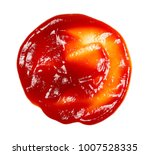 red ketchup splashes isolated... | Shutterstock . vector #1007528335