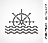 steering wheel ship with sea... | Shutterstock .eps vector #1007531845