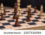 chess on chessboard close up | Shutterstock . vector #1007536984