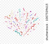 colorful confetti isolated.... | Shutterstock .eps vector #1007539615