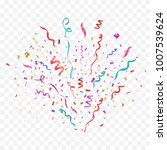 colorful confetti burst... | Shutterstock .eps vector #1007539624
