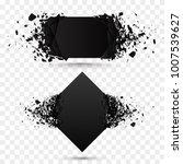 black square stone with debris... | Shutterstock .eps vector #1007539627