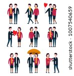 romantic couples  lover people... | Shutterstock .eps vector #1007540659