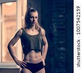 beautiful sporty woman portrait   Shutterstock . vector #1007542159
