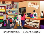 a vector illustration of people ... | Shutterstock .eps vector #1007543059