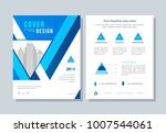 annual report  broshure  flyer  ... | Shutterstock .eps vector #1007544061