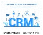 crm concept design with vector... | Shutterstock .eps vector #1007545441
