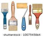 painting tools. paint brushes... | Shutterstock . vector #1007545864