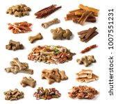 Collection Dog Snacks Isolated A - Fine Art prints