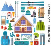 winter sports activity and... | Shutterstock . vector #1007555239