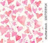 seamless watercolor pattern... | Shutterstock . vector #1007555914