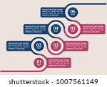 infographic template in six...   Shutterstock .eps vector #1007561149