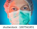 female surgeon face portrait ... | Shutterstock . vector #1007561851