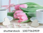 Romantic Photo With Pink Tulip...