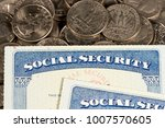 usa social security cards laid... | Shutterstock . vector #1007570605
