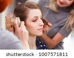 makeup and hairstyle for a... | Shutterstock . vector #1007571811