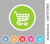shopping cart icon flat web... | Shutterstock .eps vector #1007573905