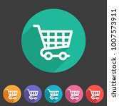 shopping cart icon flat web... | Shutterstock .eps vector #1007573911