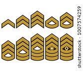 military ranks symbol  epaulet... | Shutterstock .eps vector #1007574259