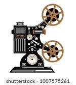 vintage film projector vector... | Shutterstock .eps vector #1007575261