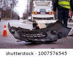 car accident. auto crash  wreck ... | Shutterstock . vector #1007576545