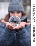 closeup of young woman outdoors ... | Shutterstock . vector #1007579854