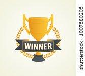 winner golden cup. first place... | Shutterstock .eps vector #1007580205