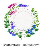 flowering orchids and herbs...   Shutterstock . vector #1007580994