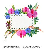 flowering orchids and herbs...   Shutterstock . vector #1007580997