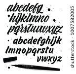 vector alphabet. exclusive... | Shutterstock .eps vector #1007582005