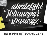 decorative texture abc letters.  | Shutterstock .eps vector #1007582671