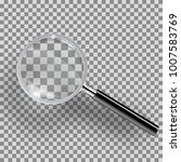 realistic loupe with black... | Shutterstock .eps vector #1007583769