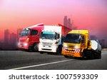 transportation  import export... | Shutterstock . vector #1007593309