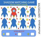 shadow matching game. find the... | Shutterstock .eps vector #1007595799