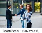 young businesswoman posing in... | Shutterstock . vector #1007598541