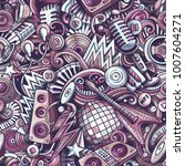 cartoon cute doodles disco... | Shutterstock .eps vector #1007604271