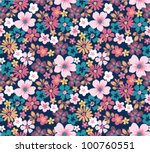 Stock vector summer floral garden seamless pattern 100760551