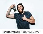 handsome photographer on light... | Shutterstock . vector #1007612299