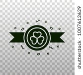 coin with shamrock symbol and... | Shutterstock .eps vector #1007612629