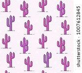 cactus pattern   seamless... | Shutterstock .eps vector #1007612845