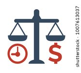 time is money icon on white... | Shutterstock .eps vector #1007613037