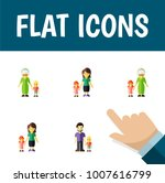 icon flat relatives set of... | Shutterstock .eps vector #1007616799